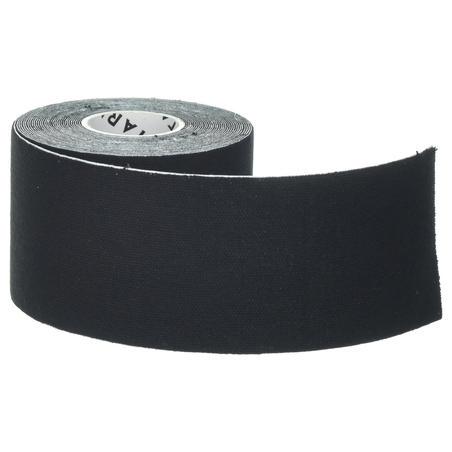 Bande de maintien de kinésiologie 5 cm X 5 m noire