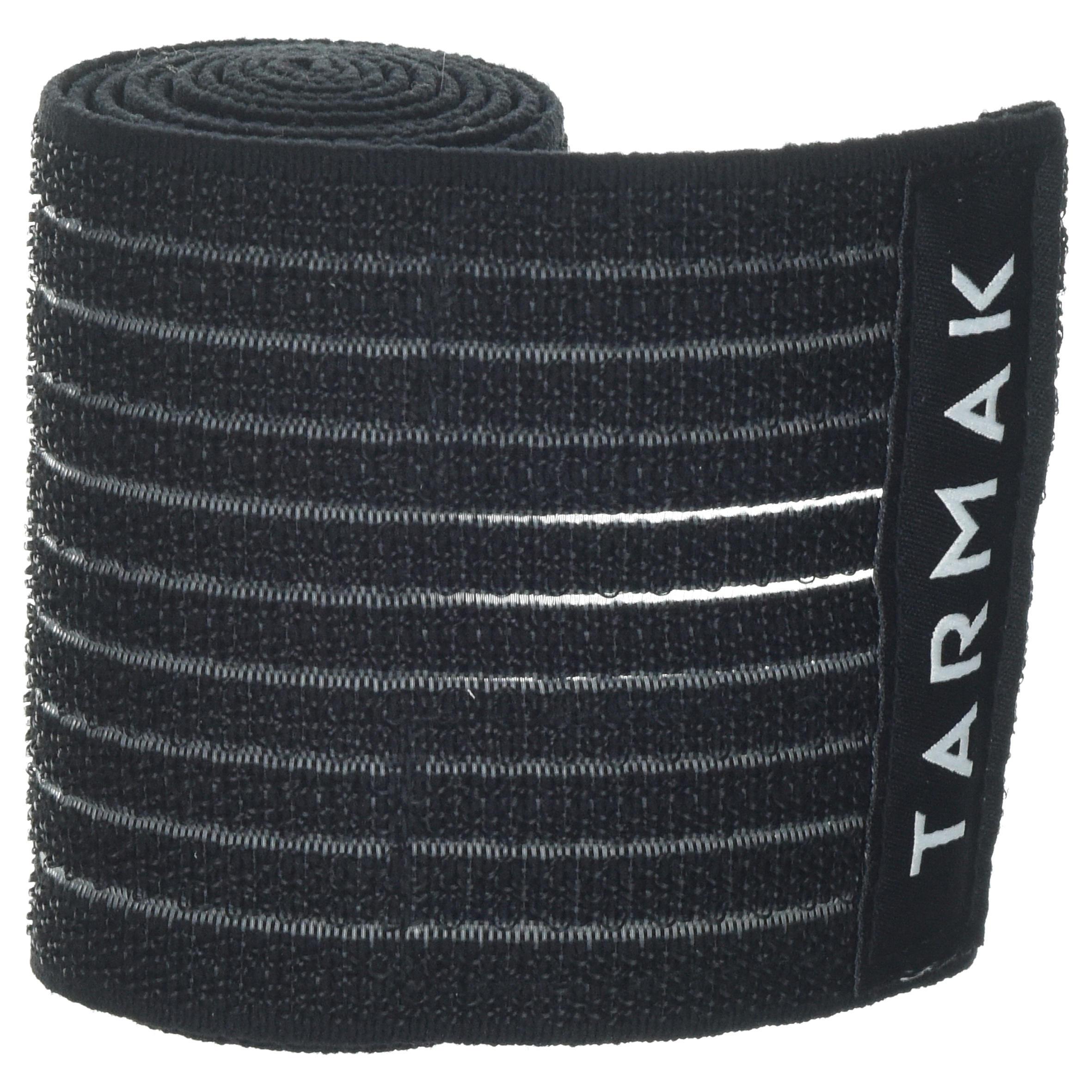 Bande ajustable réutilisable 8 cm x 1,2 m noire