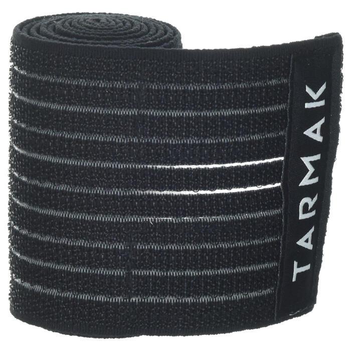 Bande réutilisable 8 cm x 1,2 m noire - 1418655