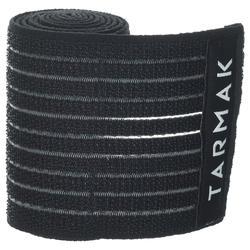Venda de sujeción reutilizable 8 cm x 1,2 m negra
