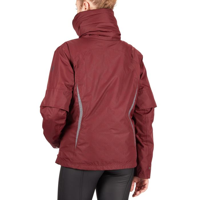 Warme waterdichte jas ruitersport dames Tosca bordeaux