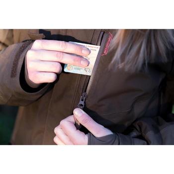 Chaqueta Caza Solognac 500 Mujer Impermeable Calida Marron