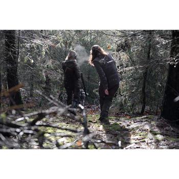 JAGD-SOFTSHELLJACKE DAMEN WARM WASSERABWEISEND 500 BRAUN