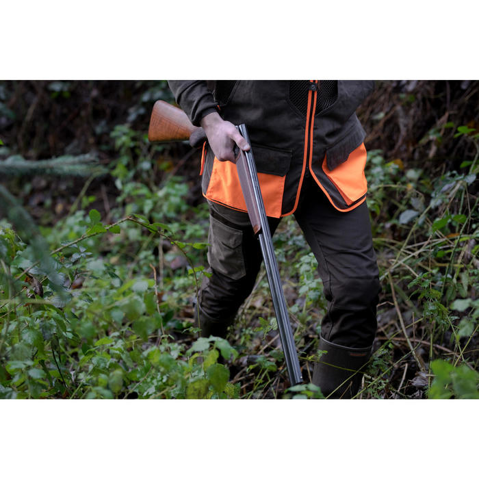 PANTALON chasse RENFORT BIcolore -MARRON 520