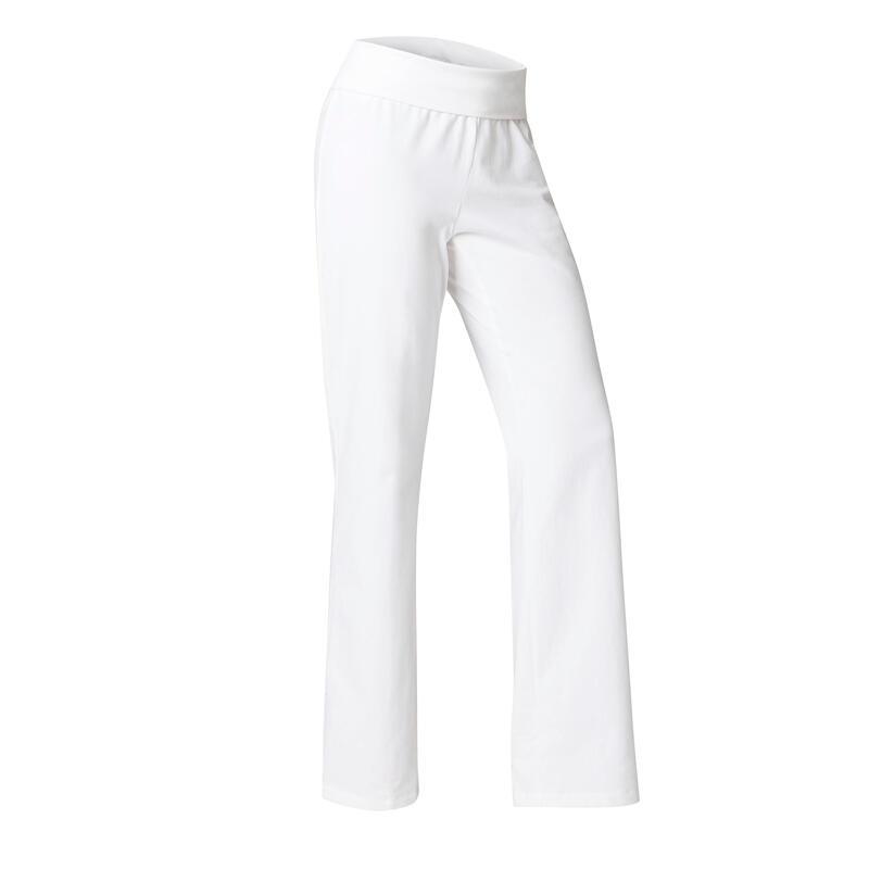 Pantaloni donna yoga cotone bio bianchi