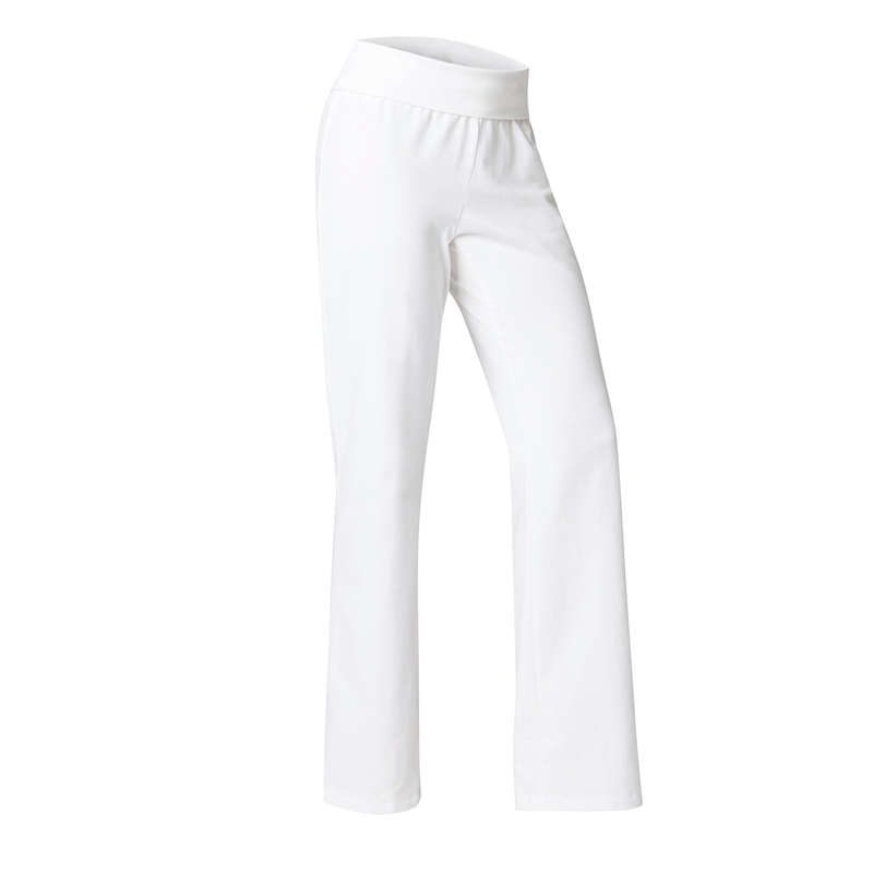 ABBIGLIAMENTO YOGA DONNA Yoga - Pantaloni donna yoga bianchi DOMYOS - Abbigliamento yoga