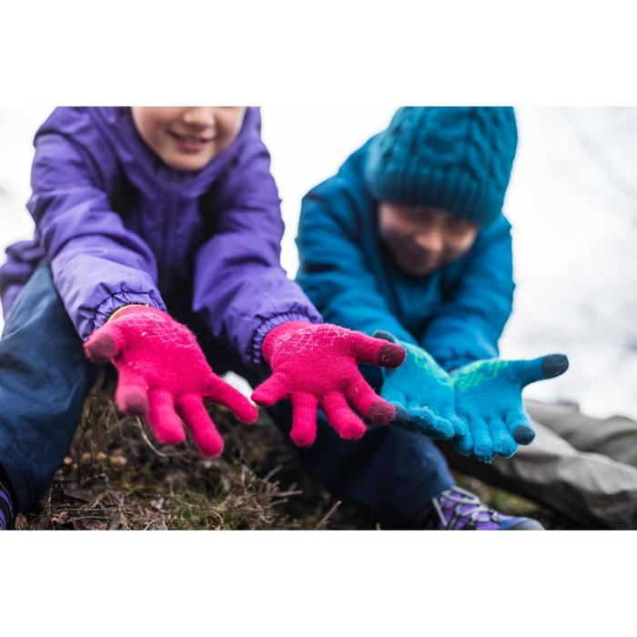 Gants en maille de randonnée junior SH100 warm roses
