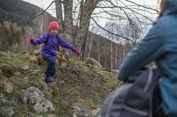 Waterdichte wandelschoenen Arpenaz 100 mid voor kinderen, met veters - 141903