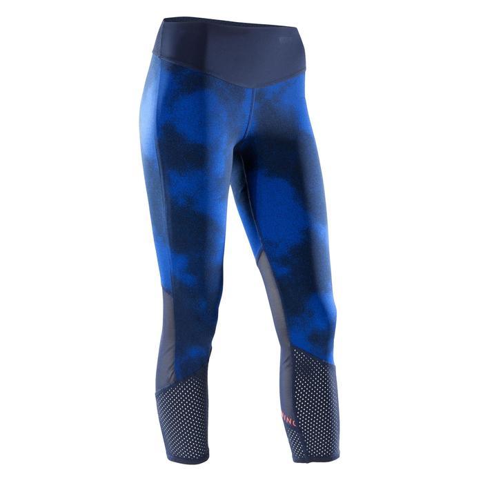 7/8-legging 900 cardiofitness dames met blauwe opdruk