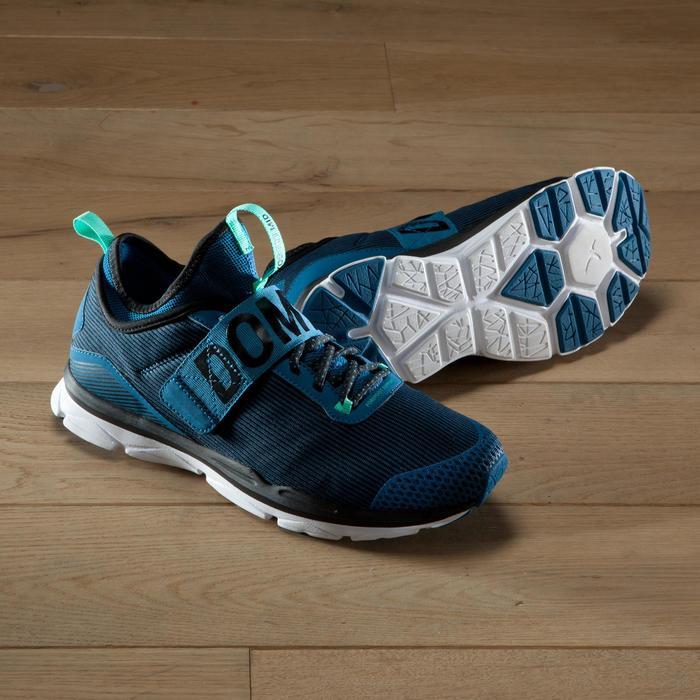 Chaussures fitness cardio-training  500 mid femme bleu et - 1419054