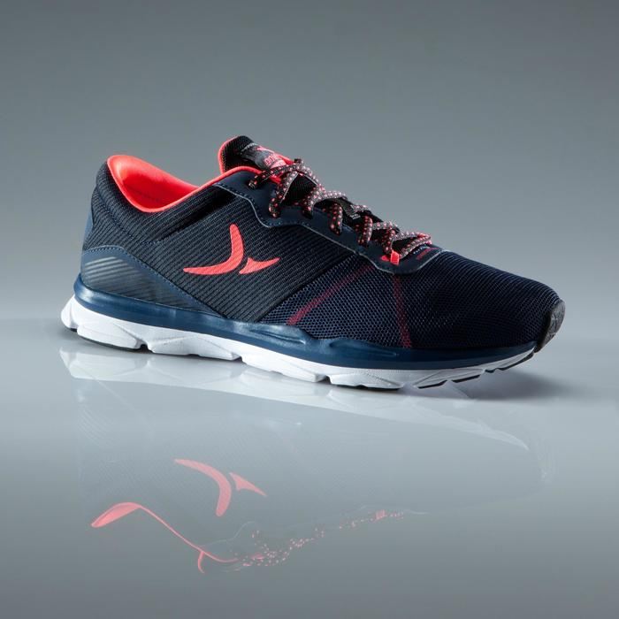 Chaussures fitness cardio-training 500 femme bleu et - 1419055