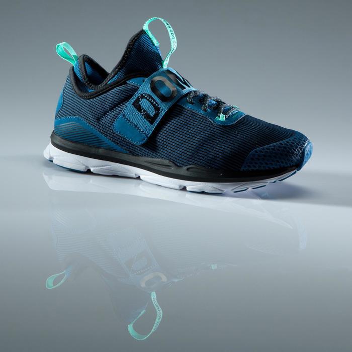 Chaussures fitness cardio-training  500 mid femme bleu et rose - 1419058