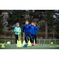 Trainingshose T500 Kinder blau/schwarz