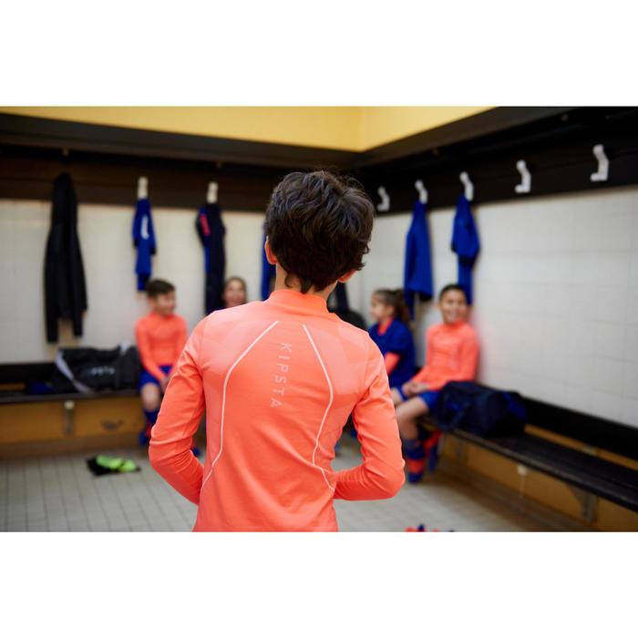 Sous maillot de football manches longues enfant Keepdry 500 orange fluo