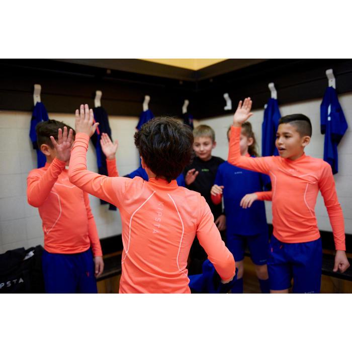 Funktionsshirt langarm Keepdry 500 Kinder neon-orange