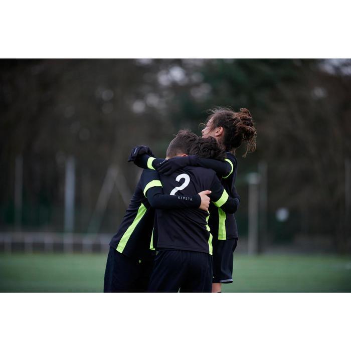 Voetbalhandschoenen voor kinderen Keepdry 500 zwart