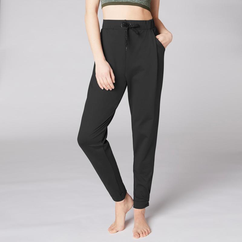 diseño moderno precio al por mayor precio justo Ropa de yoga para mujer - Mallas Pantalones Deportivos Yoga Domyos 900  Estudio Fluido Mujer Negro