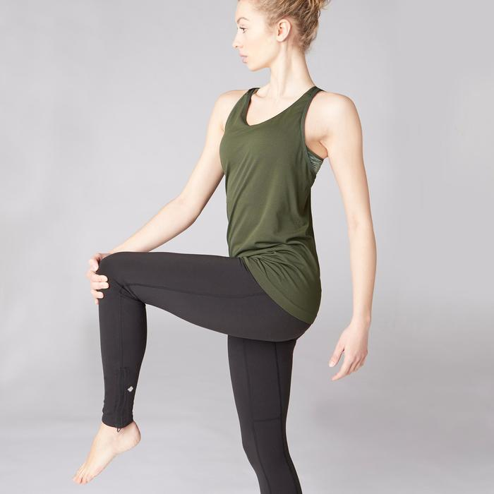 Tank-Top Yoga nahtlos Damen khaki