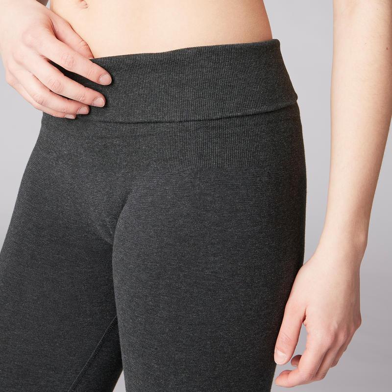 Seamless Yoga Leggings - Mottled Grey