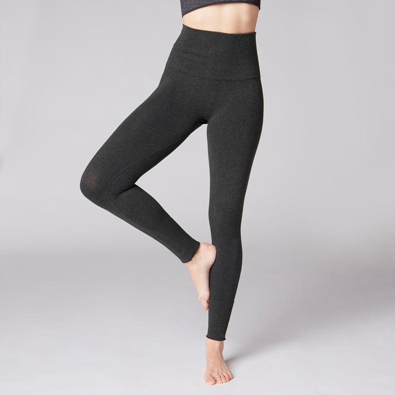 Seamless Yoga Leggings - Mottled Grey