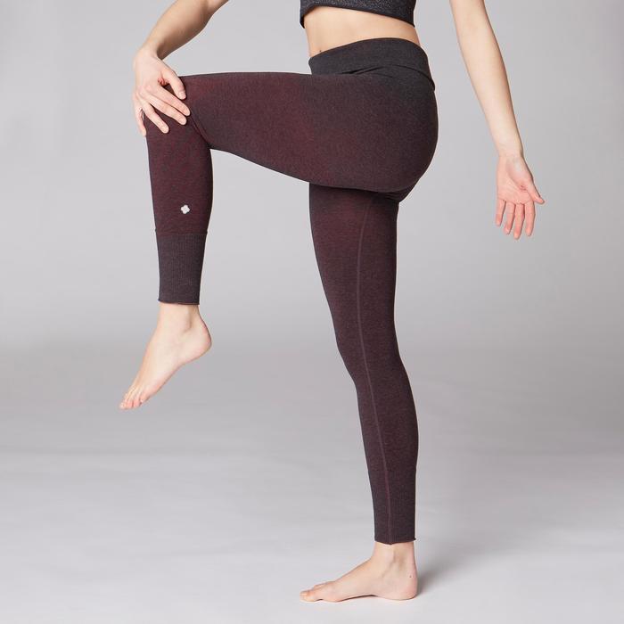 Legging YOGA DOUX sans couture femme bordeaux chiné - 1419236