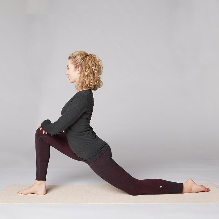 Legging YOGA DOUX sans couture femme bordeaux chiné - 1419238