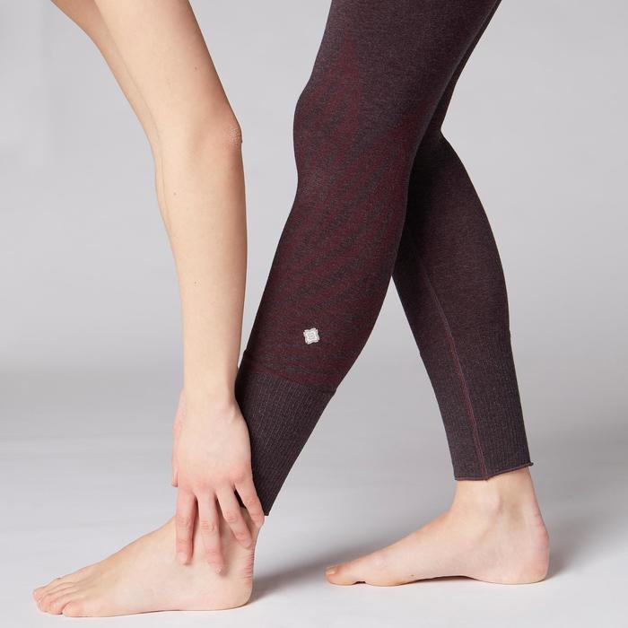 Legging YOGA DOUX sans couture femme bordeaux chiné - 1419239
