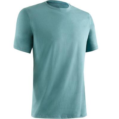 500 Short-Sleeved Regular Gym & Pilates T-Shirt - Brittany Blue