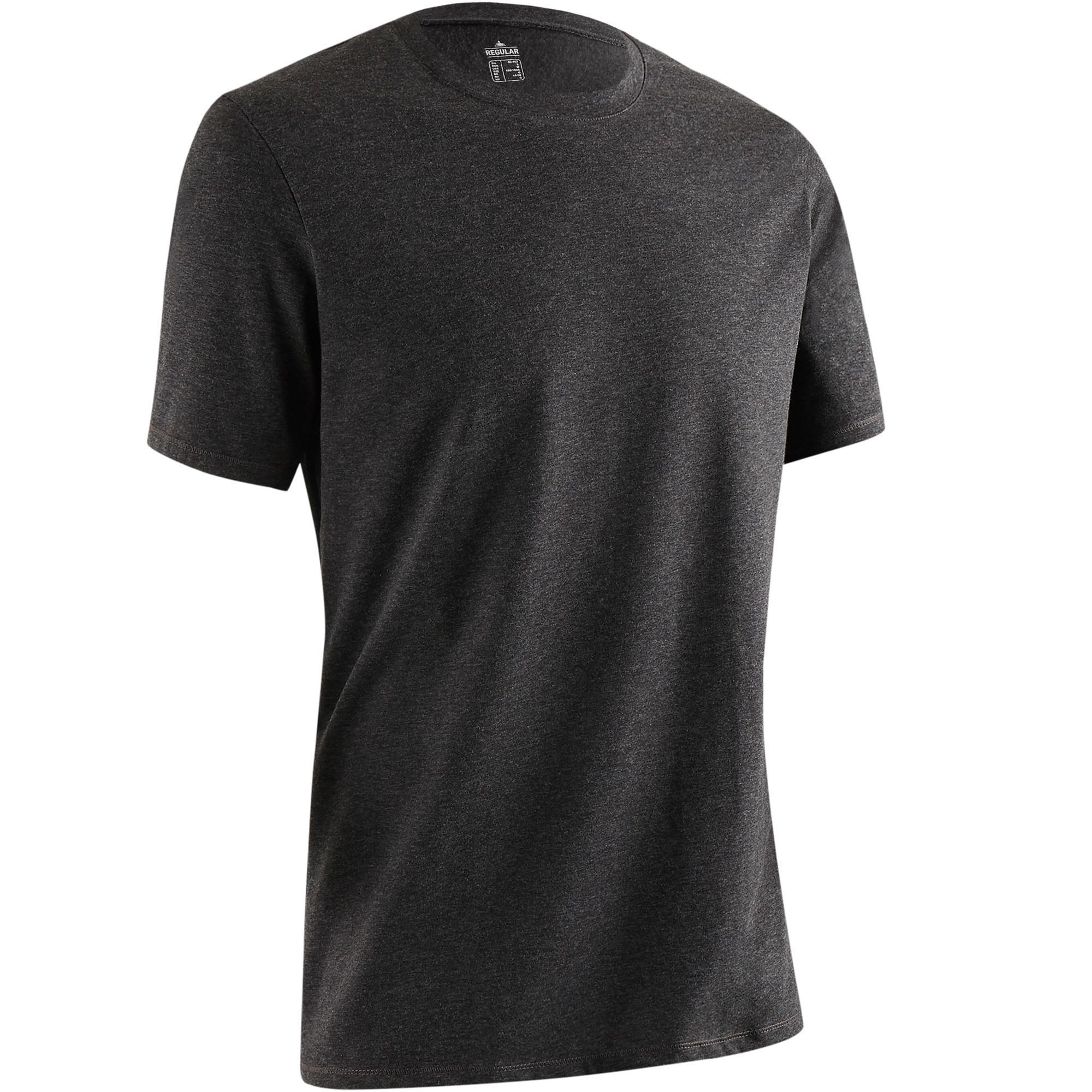 Domyos T-shirt 500 regular fit pilates en lichte gym heren