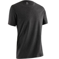 標準剪裁溫和健身與皮拉提斯T恤 - 深灰色