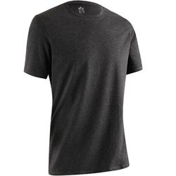 Heren T-shirt 500 voor gym en stretching regular fit