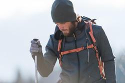 Warme stretch herensweater voor trekking Forclaz 900 gemêleerd grijs - 141927