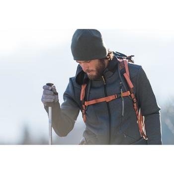 Fleece herenvest voor bergwandelen MH920 gemêleerd grijs