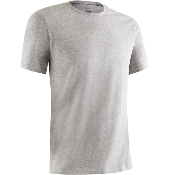 T-Shirt Gym 500 Regular Herren Fitness grau