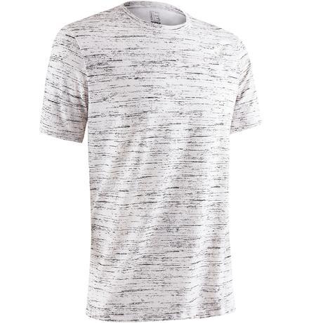 f5355e1f41664 T-Shirt 500 regular manches courtes Gym   Pilates homme blanc chiné   Domyos  by Decathlon