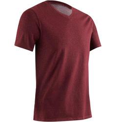 500 Slim-Fit V-Neck Gym Stretching T-Shirt - Black