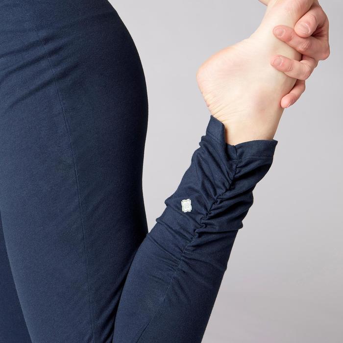 Legging yoga femme coton issu de l'agriculture biologique noir / gris chiné - 1419296