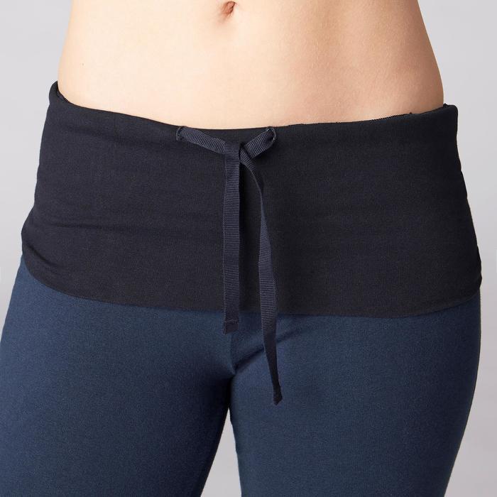 Legging yoga femme coton issu de l'agriculture biologique noir / gris chiné - 1419297