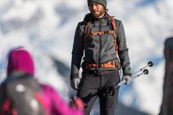 Warme stretch herensweater voor trekking Forclaz 900 gemêleerd grijs - 141930