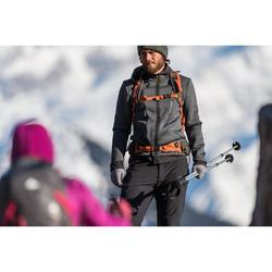 Chaqueta polar de senderismo montaña hombre MH920 Gris jaspeado