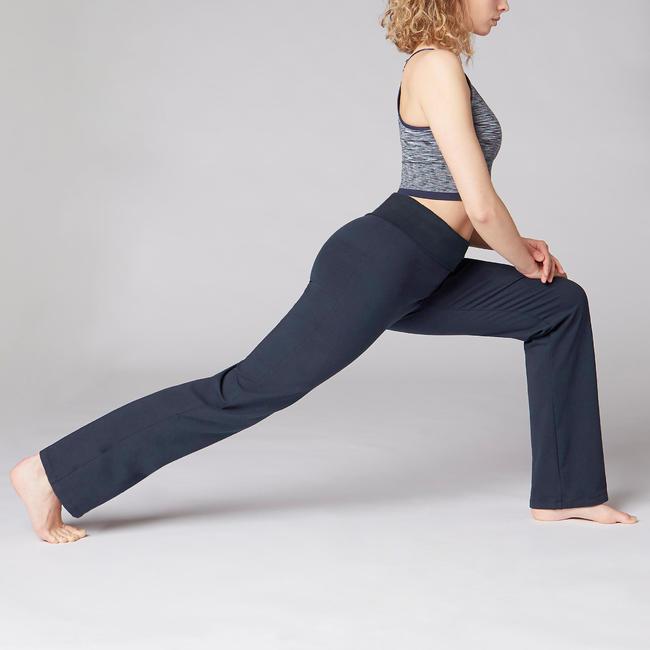 Women's Organic Cotton Gentle Yoga Bottoms - Navy Blue