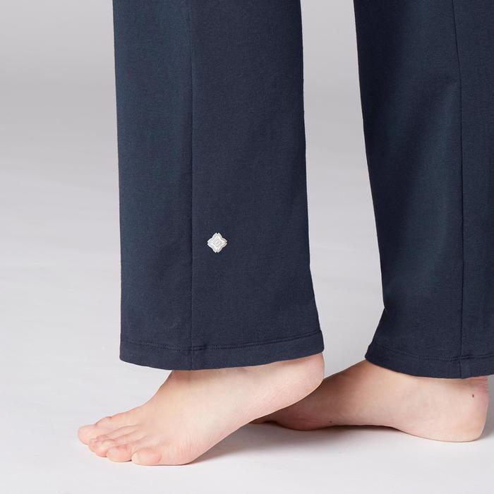 Mallas Deportivas Pantalones Premamá Yoga Domyos 100 Reg Algodón Bio Mujer azul