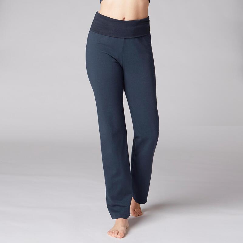 Women's Organic Cotton Gentle Yoga Bottoms - Navy