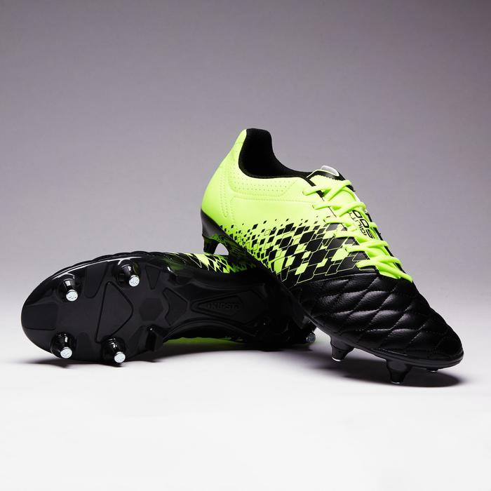 Voetbalschoenen voor volwassenen Agility 500 SG voor drassig terrein zwart/geel