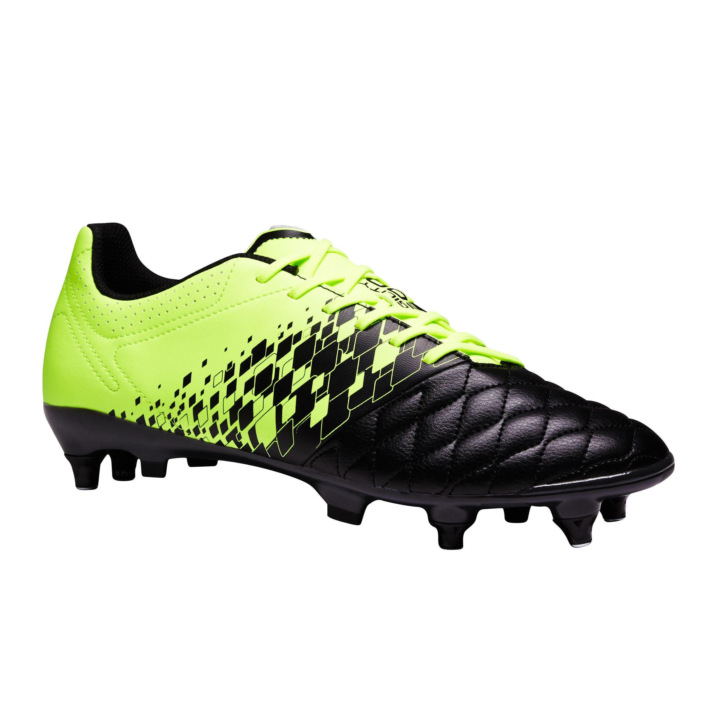 Kipsta Voetbalschoenen Agility 500 SG zwart/geel