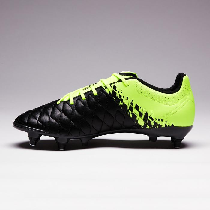 Chaussure de football adulte terrain gras Agility 500 SG noire jaune