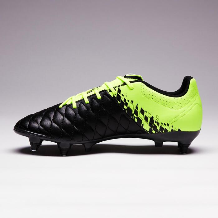 Voetbalschoenen Agility 500 SG zwart/geel