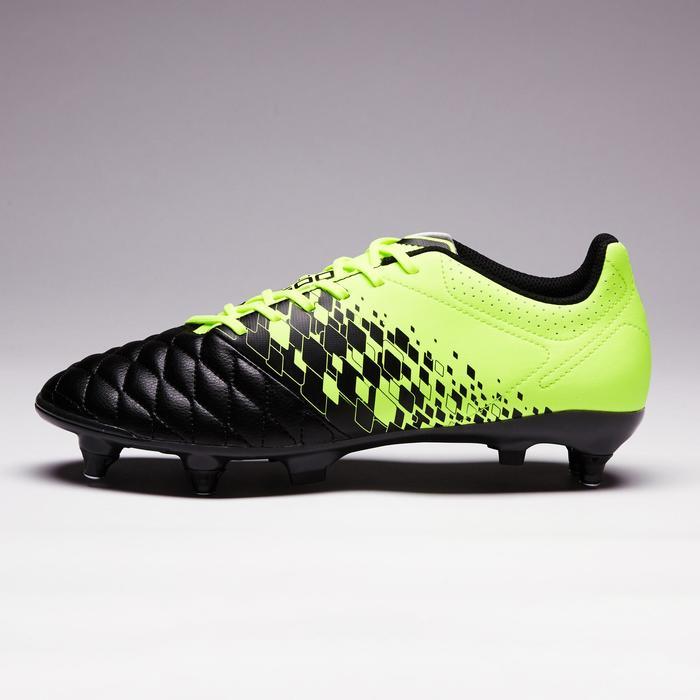 Botas de Fútbol adulto Kipsta Agility 500 SG negro y amarillo