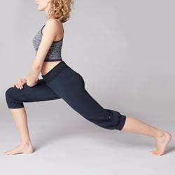 3/4-Hose sanftes Yoga Damen marineblau