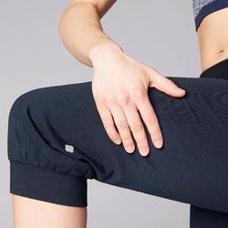 女款舒緩瑜珈有機棉七分褲 - 海軍藍